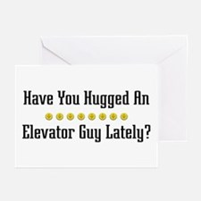 Hugged Elevator Guy Greeting Cards (Pk of 10)