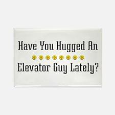 Hugged Elevator Guy Rectangle Magnet