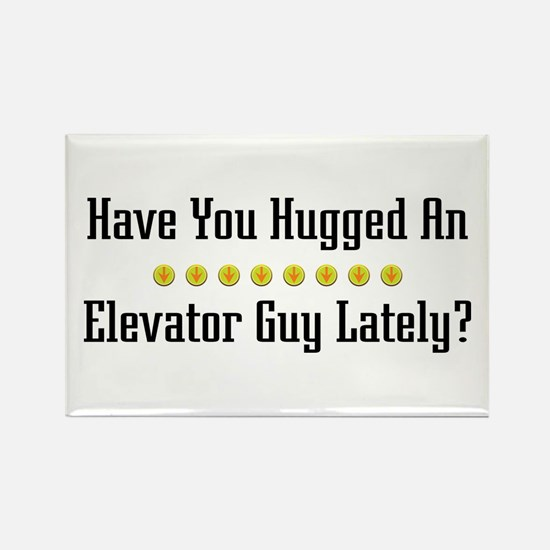 Hugged Elevator Guy Rectangle Magnet