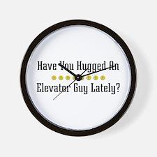 Hugged Elevator Guy Wall Clock