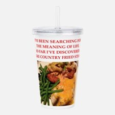 country fried steak Acrylic Double-wall Tumbler