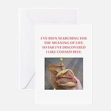 corned beef Greeting Card