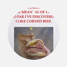 corned beef Ornament (Round)