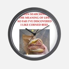 corned beef Wall Clock