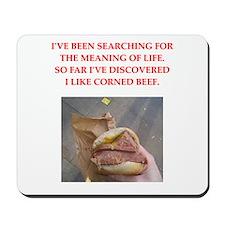 corned beef Mousepad