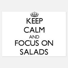 Keep Calm and focus on Salads Invitations