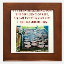 hamburgers Framed Tile