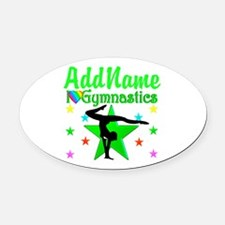 SPARKLING GYMNAST Oval Car Magnet