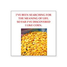 """corn Square Sticker 3"""" x 3"""""""