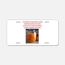 cheese snack Aluminum License Plate