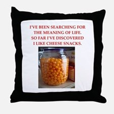 cheese snack Throw Pillow