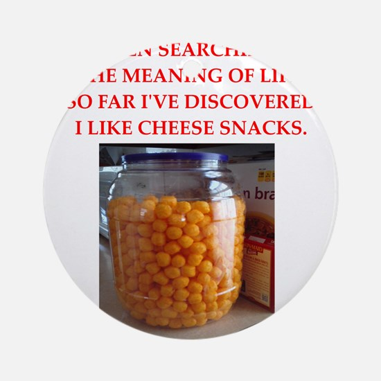 cheese snack Ornament (Round)