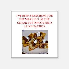 "nachos Square Sticker 3"" x 3"""