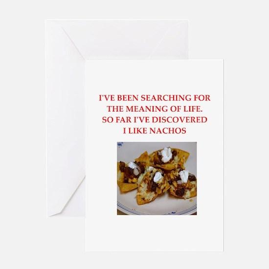 nachos Greeting Card