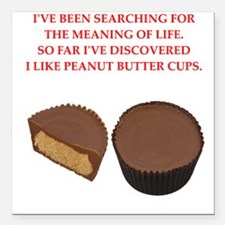 "peanut butter cup Square Car Magnet 3"" x 3"""