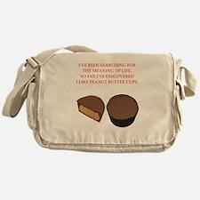 peanut butter cup Messenger Bag