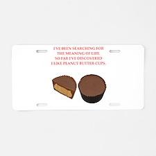 peanut butter cup Aluminum License Plate