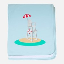 Lifeguard Stand baby blanket