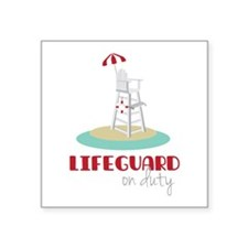 Lifeguard on Duty Sticker