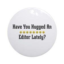 Hugged Editor Ornament (Round)
