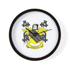 BENTLEY Coat of Arms Wall Clock