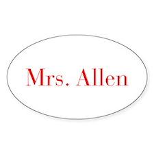 Mrs Allen-bod red Decal