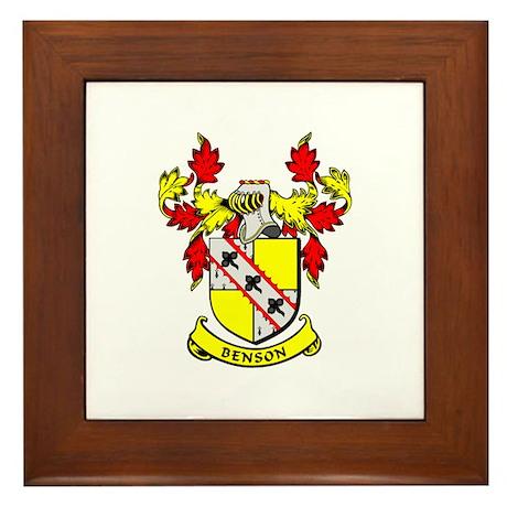 BENSON Coat of Arms Framed Tile