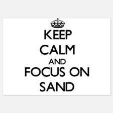 Keep Calm and focus on Sand Invitations