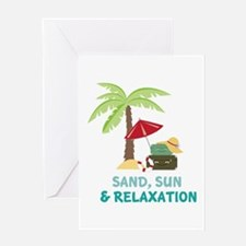 Sand Sun Relaxation Greeting Cards