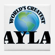 World's Greatest Ayla Tile Coaster