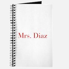 Mrs Diaz-bod red Journal