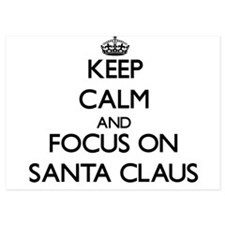 Keep Calm and focus on Santa Claus Invitations