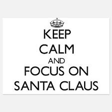 Keep Calm and focus on Santa Claus Invitations