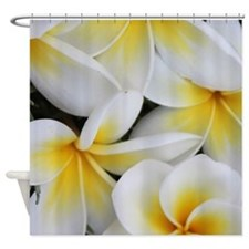 Yellow and White Magnolia Flower Bl Shower Curtain