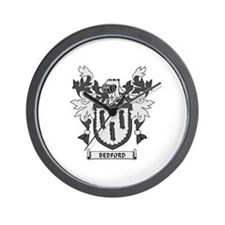 BEDFORD Coat of Arms Wall Clock