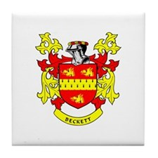 BECKETT Coat of Arms Tile Coaster