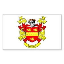 BECKETT Coat of Arms Rectangle Decal