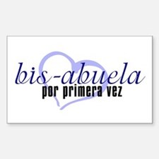 Bis-Abuela, Blue Version Rectangle Decal