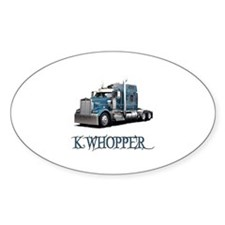 K Whopper Oval Decal