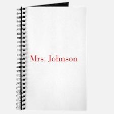 Mrs Johnson-bod red Journal