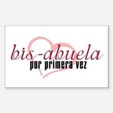 Bis-Abuela, Pink Version Rectangle Decal