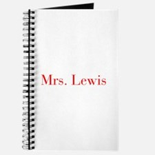 Mrs Lewis-bod red Journal