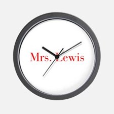 Mrs Lewis-bod red Wall Clock