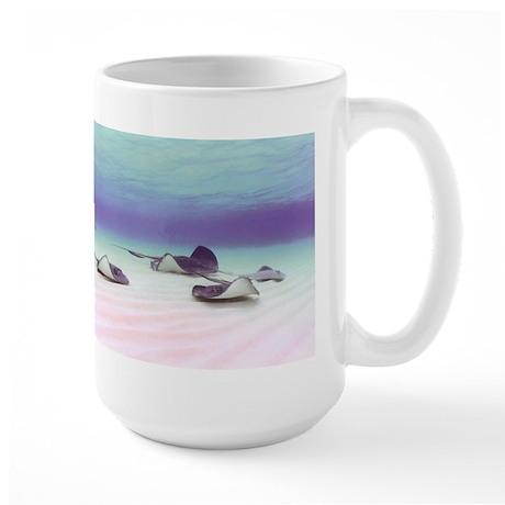 Stingrays at Grand Cayman Large Mug
