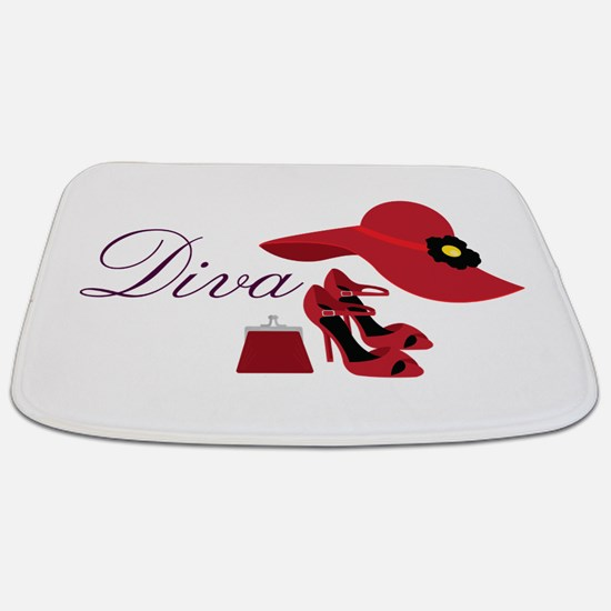 Diva Bathmat. High Heel Bathroom Accessories   Decor   CafePress