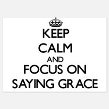 Keep Calm and focus on Saying Grace Invitations