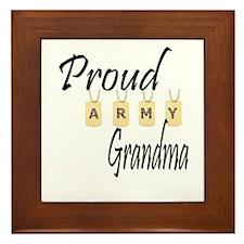 Camo Army Grandma Framed Tile