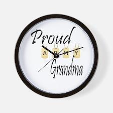 Camo Army Grandma Wall Clock