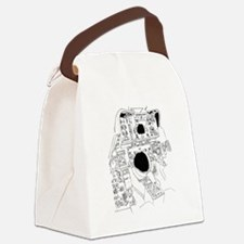 Cute Fighting Canvas Lunch Bag