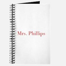 Mrs Phillips-bod red Journal